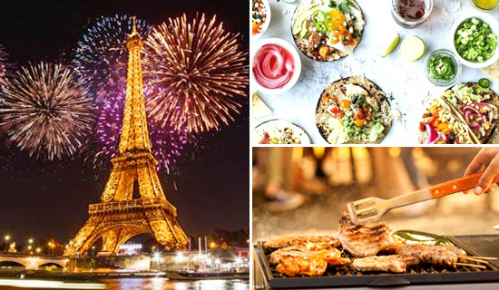 Bastille Day Barbecue animation cruise