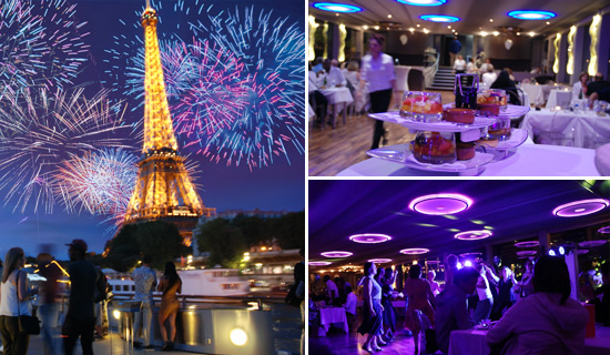 "July the 14th dinner cruise on the  ""Diamant Bleu"""