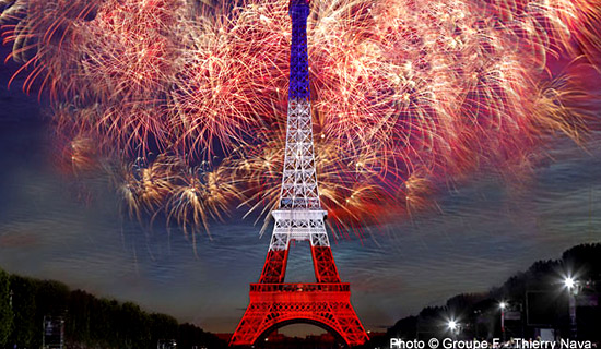 Special dates and events Paris : New Year, Valentine's Day, Bastille Day