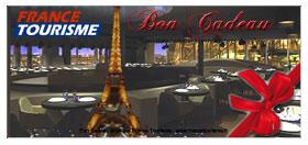 bon cadeau diner au restaurant de la Tour Eiffel