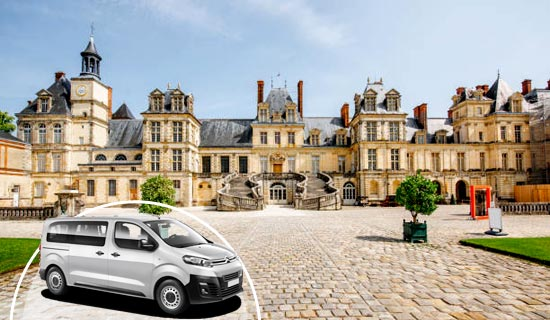 Fontainebleau Castle & Gardens (guided tours) / Fontainebleau Forest / Barbizon / Park of the Château de Courances - lunch included