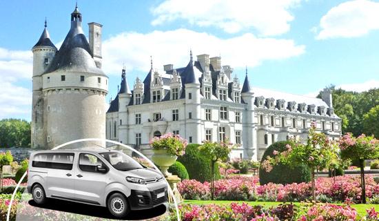 Visite des Chateaux de la Loire en minibus