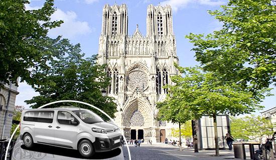 Visite de Reims en minibus