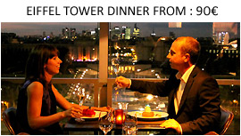 Dinner at the Eiffel Tower restaurant