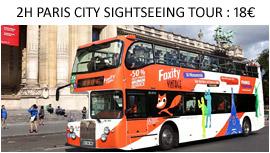 Visita guiada de Paris en bus turistico
