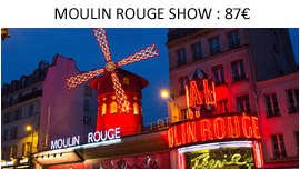 Espectaculo y entradas para el Moulin Rouge Paris