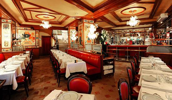 Cena al restaurante Au Pied de Cochon