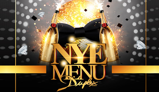 New Year's Eve at the Duplex nightclub with a gourmet buffet