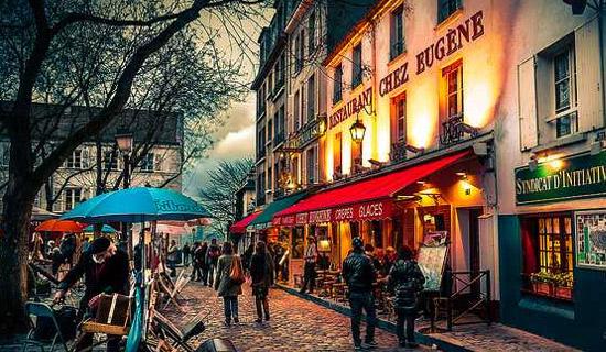 Nochevieja al restaurante Chez Eugene Place du Tertre