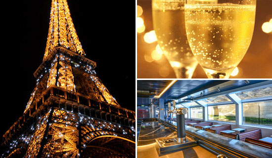 Cruise Midnight Countdown, Champagne bar and mini cakes