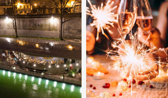 "New Year's Eve at the ""Jardins du Pont Neuf"" + Champagne cruise"