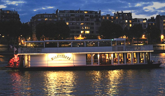 "New Year's Eve dinner cruise on the wheel boat ""Mississippi"""