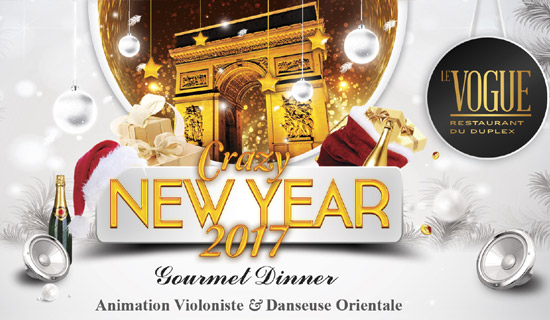 New Year's Eve at the restaurant Le Vogue + Night club The Duplex