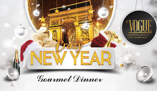Gourmet New Years Eve at Le Vogue