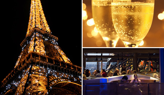 Eiffel Tower dinner New years Eve Special