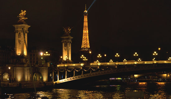Discovery cruise + Dinner at the foot of the Eiffel Tower - Valentine's Day