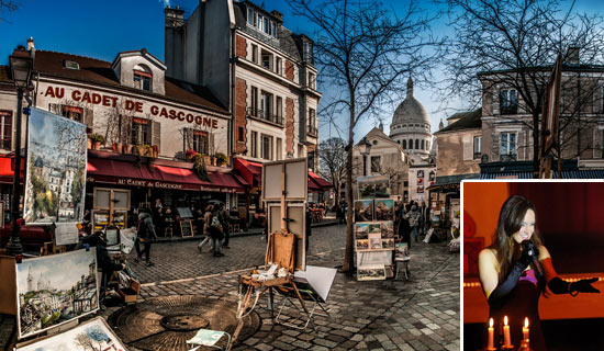 Valentine's Day in Montmartre at Cadet de Gascogne