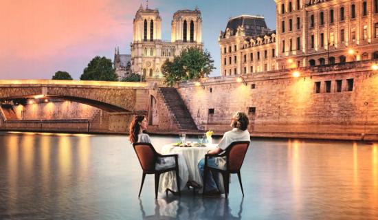 Diner croisière Elegance - Menu spécial Saint Valentin