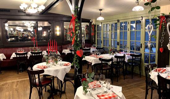 Saint Valentin au restaurant La Mere Catherine