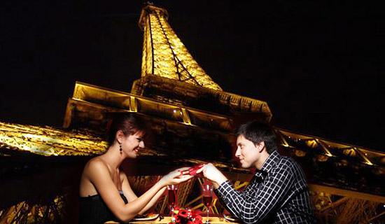 Eiffel tower dinner - Valentine's Day Special<!-- + Seine Cruise-->
