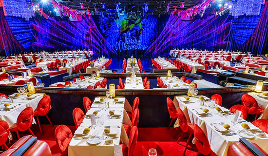 Diner spectacle au Lido de Paris