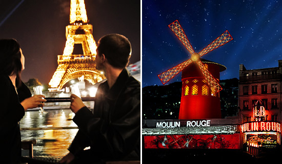 Lounge dinner cruise + Paris Night Tour + Moulin Rouge