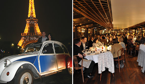 Dinner cruise and Paris night Tour by 2CV