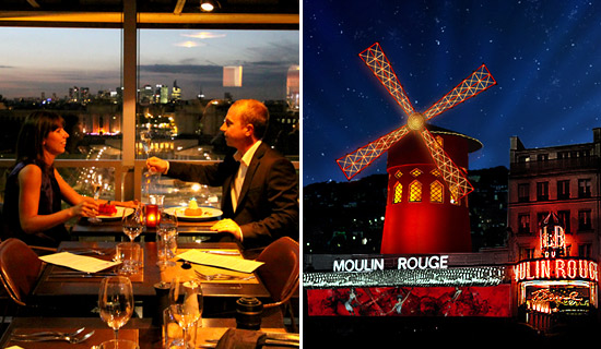 Eiffel Tower dinner + Cruise + Moulin Rouge Show