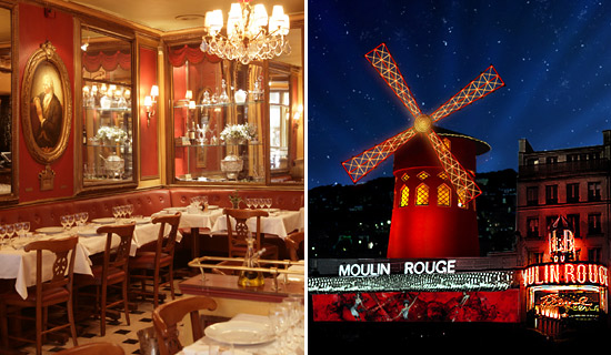 Diner au Procope + Illuminations + M.Rouge