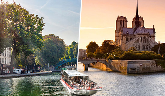 Cruise Seine and Canal Saint Martin with crepes