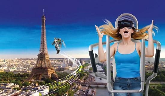 Vuelo sobre París en realidad virtual