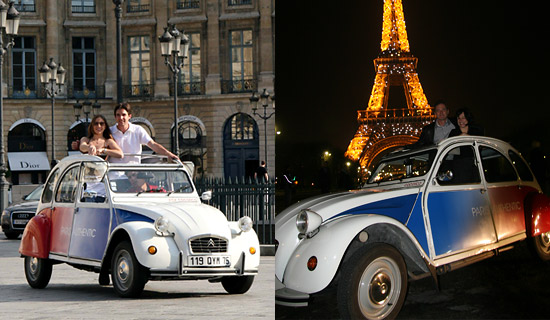 Paris guided Tour by 2CV by day or by night
