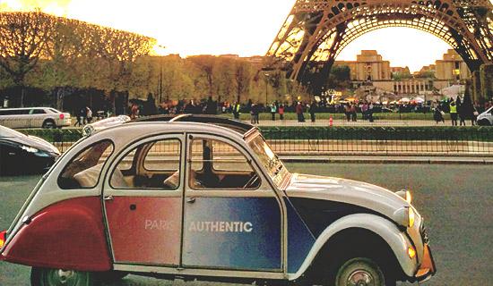 Paseos romanticos o insolitos de 2h en 2CV en Paris