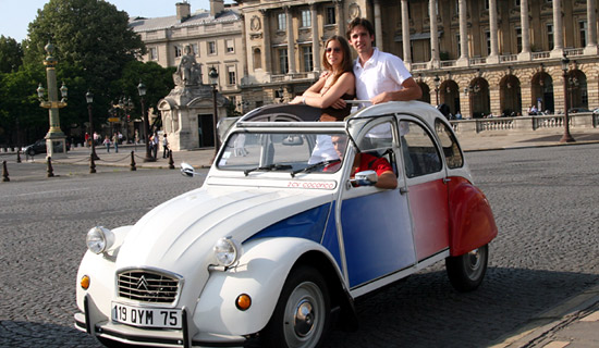 Visite guidée de Paris en 2CV