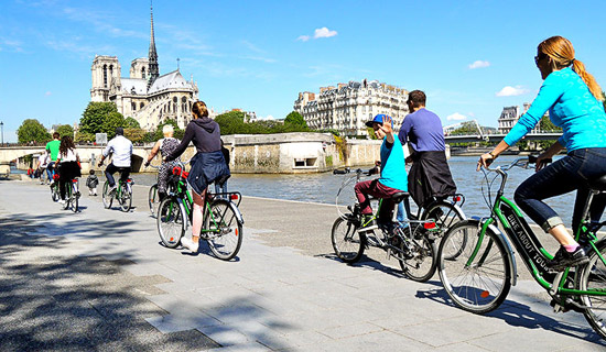 Paris Bike Tour by day