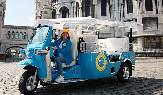 Private Paris commented tour by Tuk-Tuk 100% electric