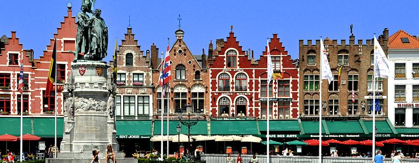 La Grand Place à Bruges