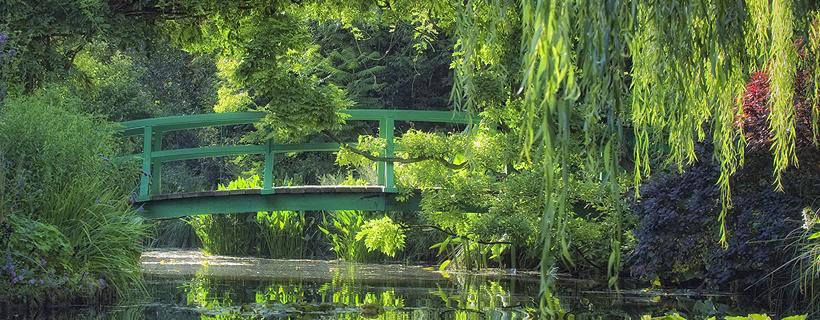 The japanese bridge in the garden of Monet