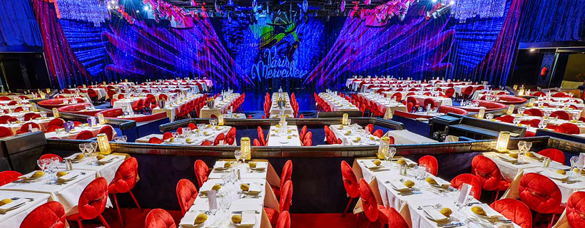 Dinner hall at the Lido de Paris