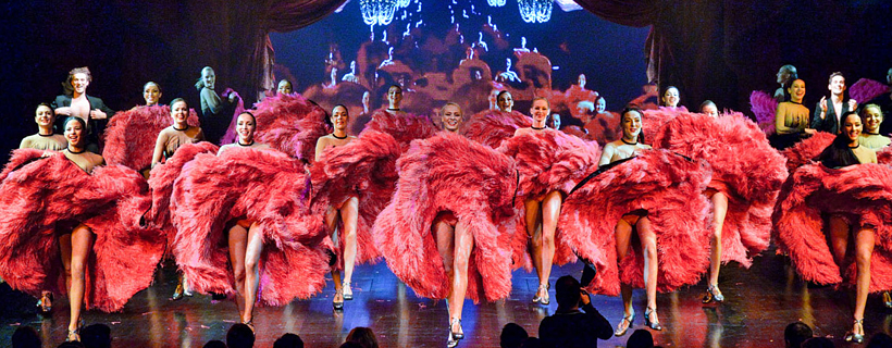 French cancan at the Lido de Paris