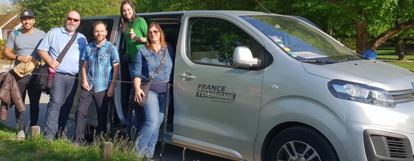 Excursion en minibus aux chateaux de la Loire