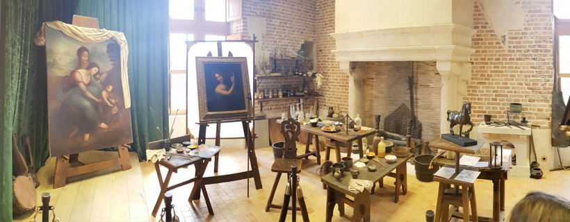 Leonardo da Vinci's workshop at Clos Lucé