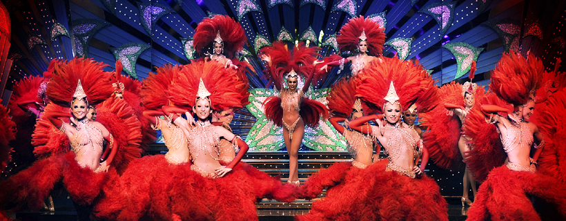 The show Féerie at the Moulin Rouge
