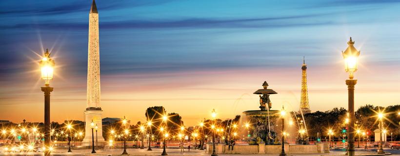 The Place de la Concorde by night