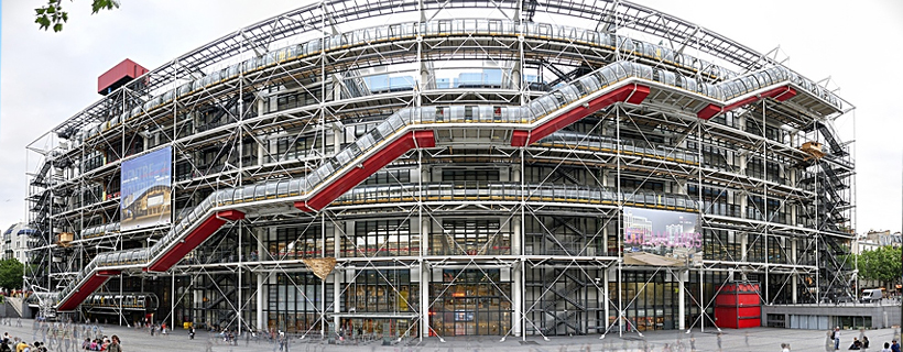 The Pompidou center and museum