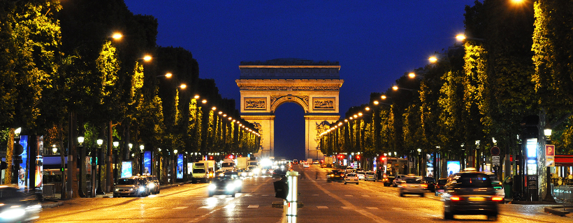 The Champs ELysées by night
