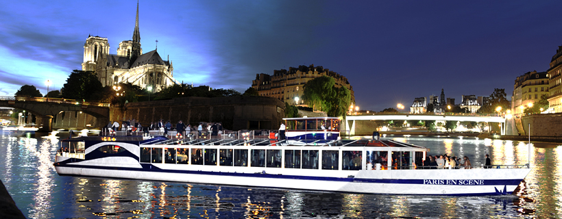 Cruise boat on the river Seine