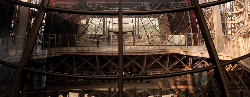 El primer piso de la Torre Eiffel