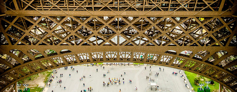 View from the first floor of the Eiffel Tower